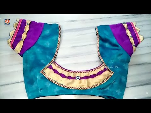 awesome blouse back neck designe cutting and stitching at home By Sri Tv