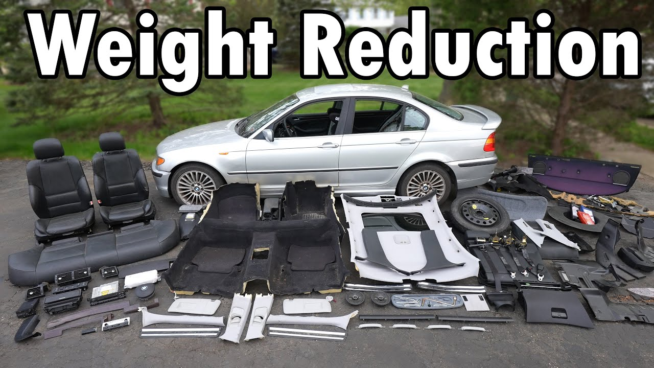 How Much Weight can you REMOVE from your Car? (Weight Reduction)