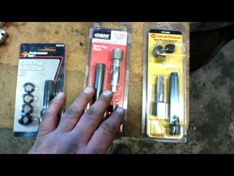 Spark plug repair kits.