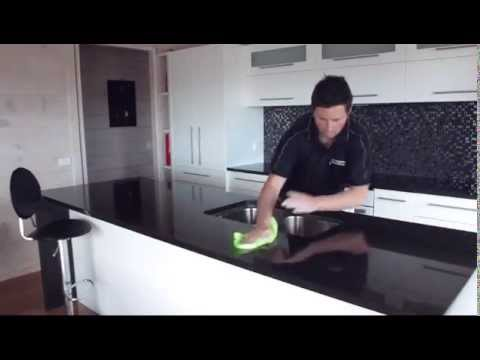 How to clean your granite countertop / benchtop with lithofin easy clean