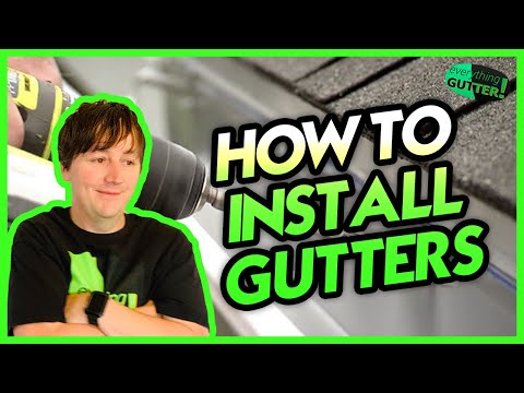 How to Install Aluminum Rain Gutters - Learn from an actual Professional installer!