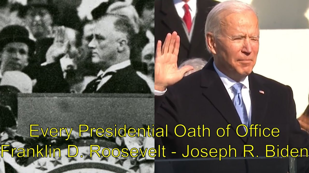 Every Presidential oath of office (Franklin D. Roosevelt - Joseph R. Biden)