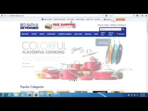How to apply 20% off coupon on BedBathAndBeyond.com