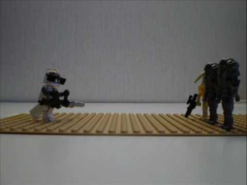 Lego Star Wars Clone Gunner VS Droids