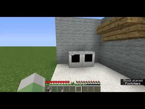 How to Build a Washer/Dryer in minecraft