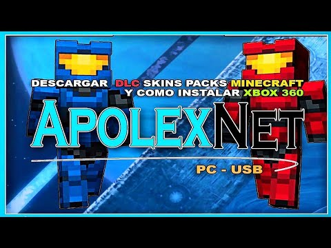 Descargar-Skin Packs-Trajes-DLC-Free-Minecraft-XBOX 360-USB
