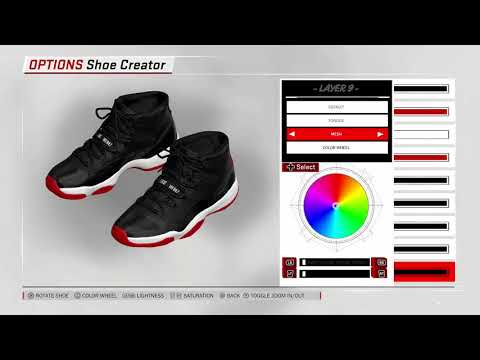 NBA 2K18 Shoe Creator   Air Jordan 11