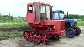 Свекловичный трактор Т-70СМ на узких гусеницах и ЛТЗ-60