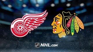 DETROIT REDWINGS VS CHICAGO BLACKHAWKS HIGHLIGHTS 1/10