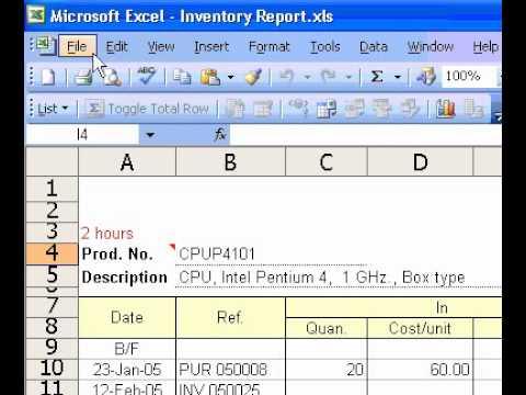 Microsoft Office Excel 2003 Create a new blank workbook