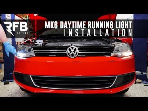 MK6 Daytime Running Light Installation   RFB Lighting