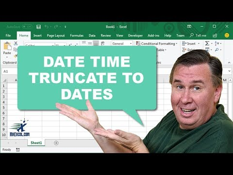 Learn Excel - Truncate Date+Time to Date - Podcast 2203