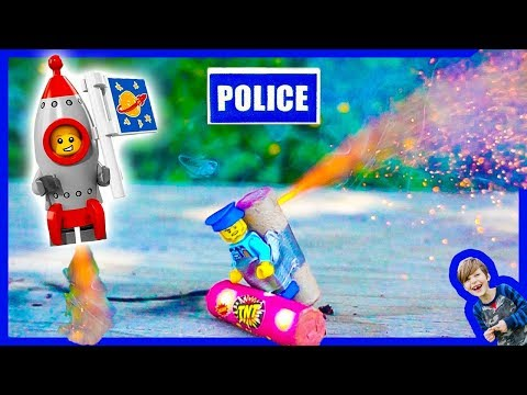 Lego City Police ROCKET MAN Minifig - Favorite Skits!