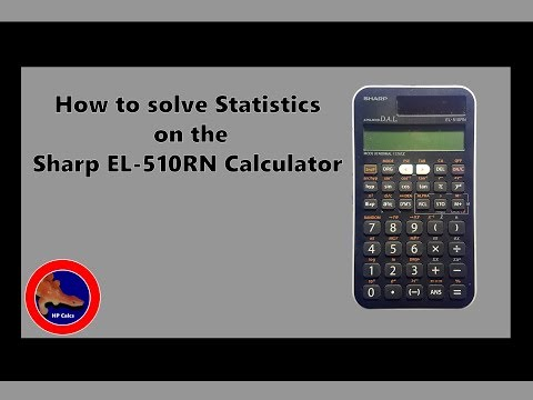 Stats mode on the Sharp EL-510RN Calculator