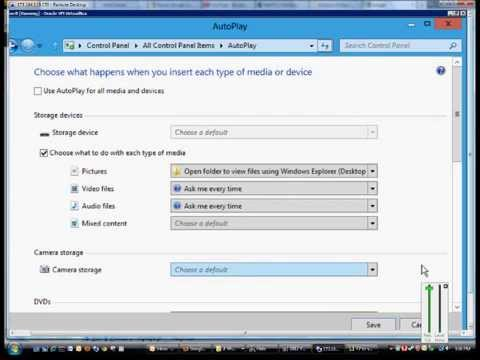 How to change Autoplay settings in Microsoft Windows Server 2012