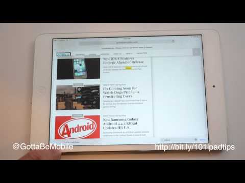 How to Search a Webpage for a Word on the iPad