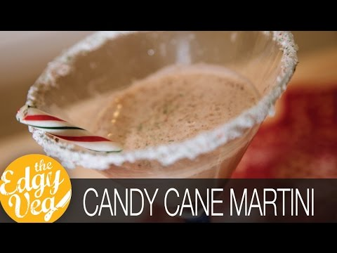 Candy Cane Martini Recipe VEGAN | Edgy Veg