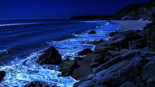 Count The Waves To Fall Asleep - It Really Works! Deep Sleeping With Ocean Sounds All Night