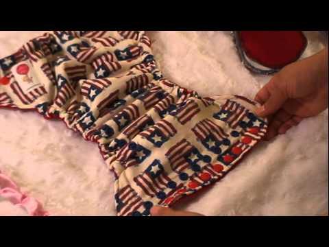 Lollipop baby cloth diaper Tutorial -  Setting up - Newborn