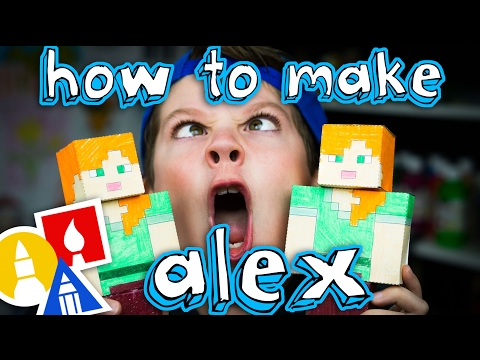 How To Make Papercraft Alex From Minecraft