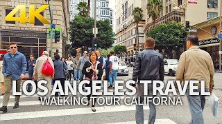 LOS ANGELES TRAVEL #4 - USA, WALKING TOUR (2 HOURS), DOWNTOWN LOS ANGELES, 4K(60FPS) - Full Version