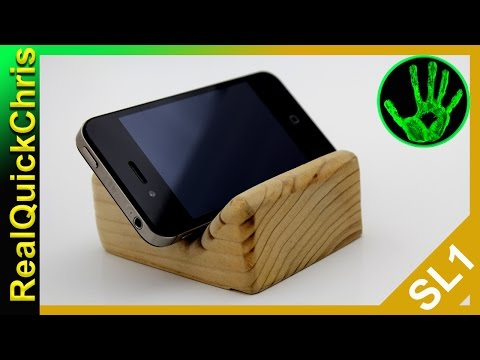 how to make a wooden phone stand