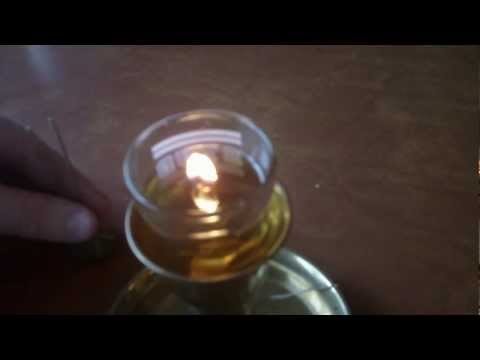 Simple oil candle wick: make oil lamps or candles using hemp and household oil diy