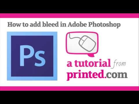 Adobe Photoshop Tutorial - Adding Bleed
