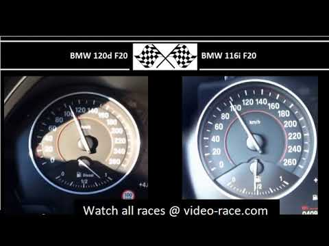 BMW 120d F20 VS. BMW 116i F20 - Acceleration 0-100km/h