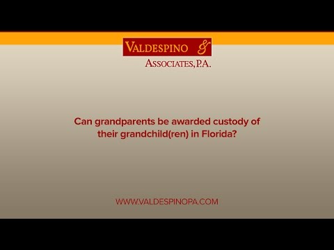 Can grandparents be awarded custody of their grandchild(ren) in Florida?
