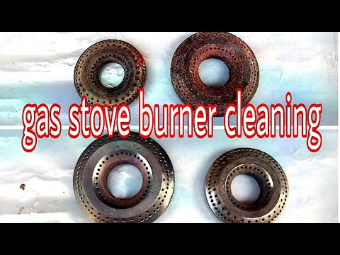 Gas stove repairs! ! How to clean gas stove burner cup !!