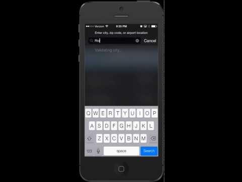 Setup Weather App Location iPhone Tutorial