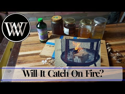 Boiled Linseed Oil Rags On fire | Safety and Drying Time For Woodworking Oil Finish