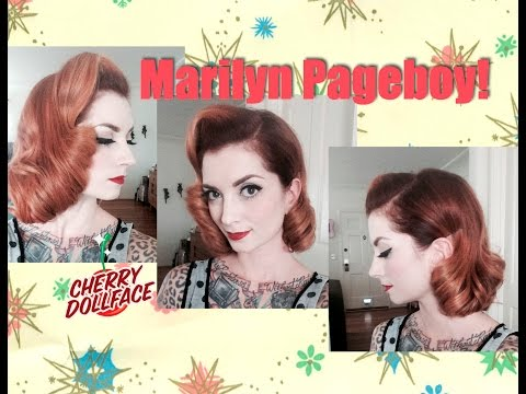 Short Vintage Hair Tutorial: Marilyn Monroe Inspired Page Boy! by CHERRY DOLLFACE