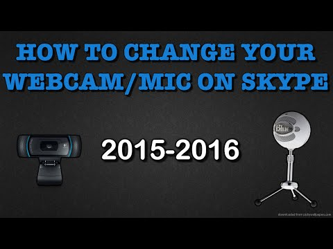 How to change your Webcam/Mic on Skype-Mac (2015-2016)