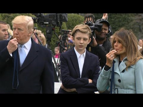 Barron Trump Helps Kick Off White House Easter Egg Roll