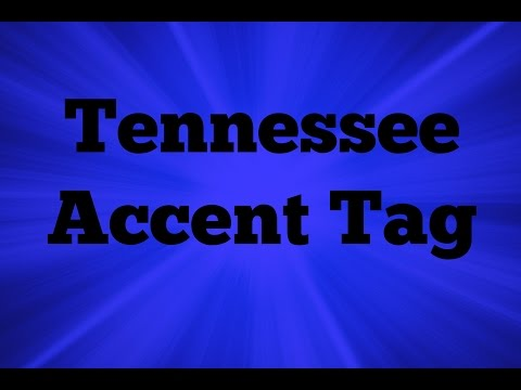 Tennessee Accent Tag