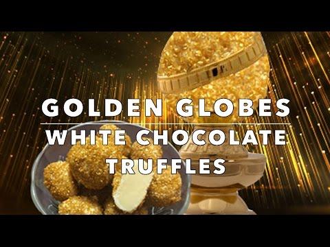 Golden Globes: White Chocolate Truffles!