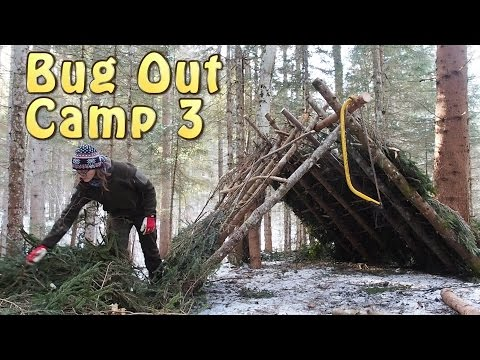Building An A Frame Shelter (Bug Out Location 3)