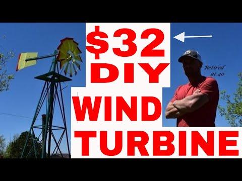 DIY Homemade Wind Turbine for $32!!!