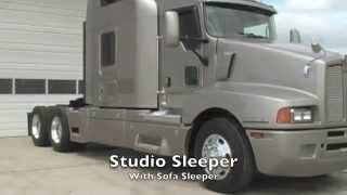 Strange 2010 Kenworth T660 Studio Sleeper With Couch From Used Truck Squirreltailoven Fun Painted Chair Ideas Images Squirreltailovenorg