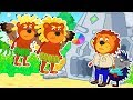 Lion Family 🕊️ Flying Lions Cartoon for Kids