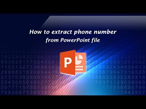 How to extract phone number from PowerPoint file?