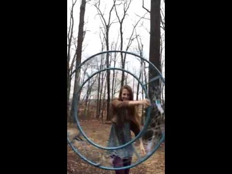 Dream catcher hula hoop by honey hoops