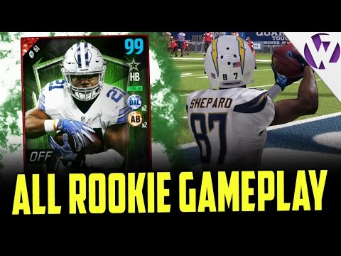 FULL OFFENSIVE ALL ROOKIE SQUAD!! - WHERE ARE THE BLOCKS - MADDEN 17 OFFENSIVE ALL ROOKIE GAMEPLAY