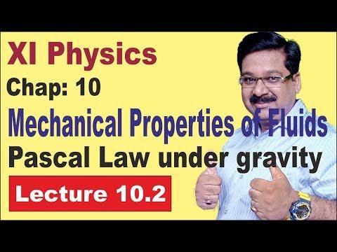 NCERT-XI-Physics-Chap-10.2-Pascal Law under gravity, Atmospheric Pressure, Barometer, Gauge Pressure