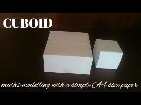 cuboid | maths model 3d shapes using A4 paper
