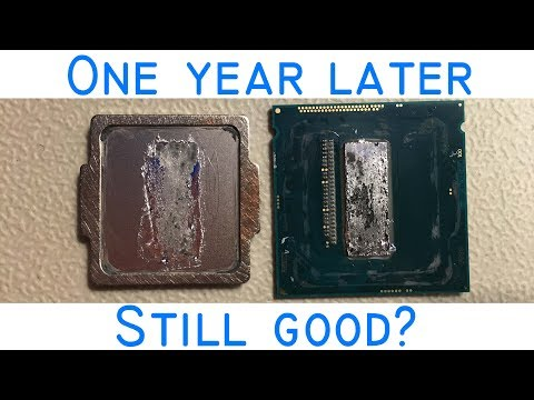 Do you need to re-apply liquid metal? ft. Delidded 4790K