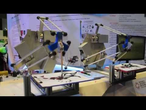 Bi Robot Touch: High Speed Artist Robot based on Delta Robot Structure (Control at 2X Speed)
