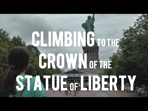 Climbing to the Crown of the Statue of Liberty - 377 steps! 1080 60p